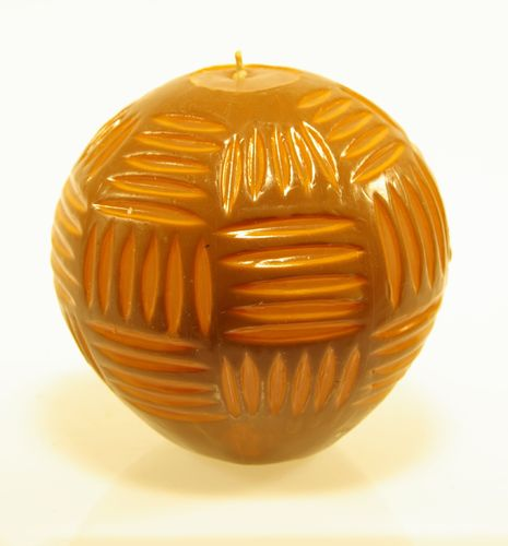 Kerze Carved Ball braun